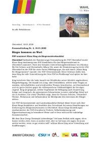 Pressemitteilung FDP 2020-01-18