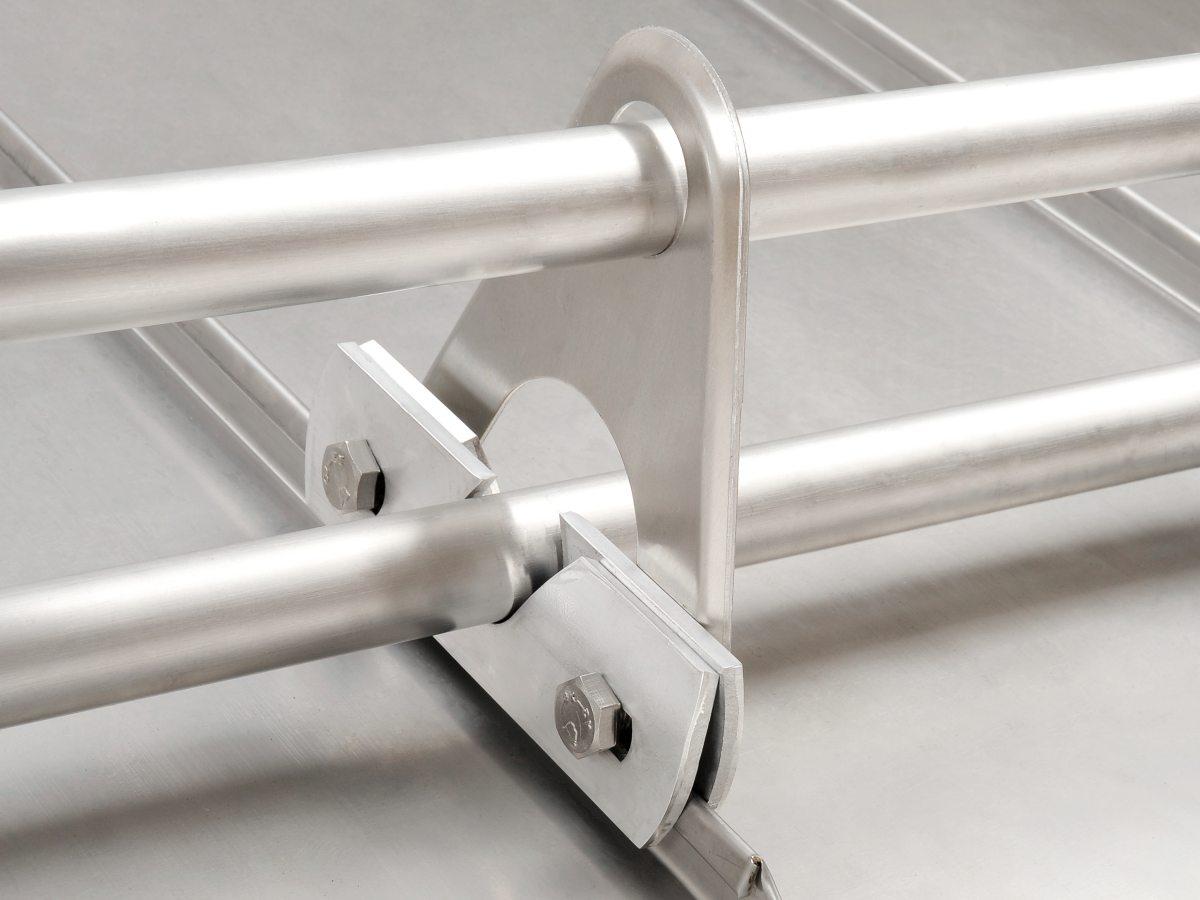 Doppelrohr - Aufstockelement Dreiecksform in Aluminium