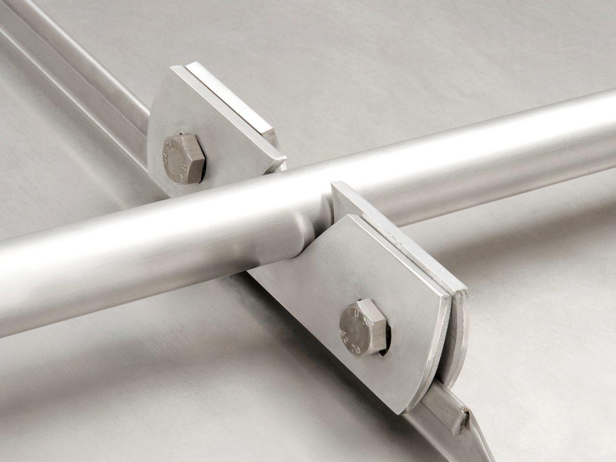 Schneefanglasche Aluminium für Stehfalzdächer
