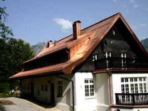 Kupferdach der Villa Stillachhaus in Oberstdof