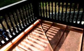 Kupferdach - Balkonabdichtung
