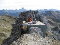 Abdichtung des Sprengdepots am Nebelhorn