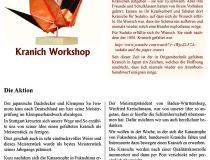 1000 Kraniche für Fukushima- Workshop am Nebelhorn