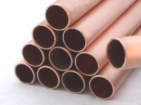 Snow retention tubes Copper; Dimension 32/2 mm