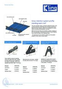 Data sheet snow retention standing seam roof ENG