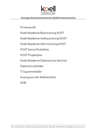 Infomappe Koell Consulting 2021