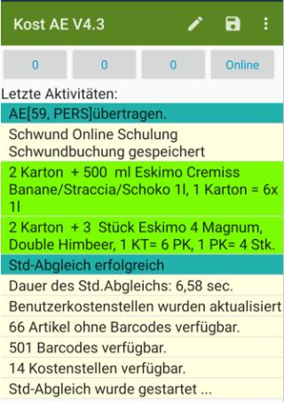 Schwundbuchungen in der KOS Android Scanner App