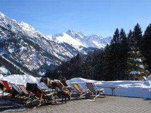 Winter Liegestuhl Panorama