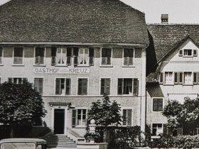 Historische Ansicht Hotel Weisses Kreuz Breitenbach