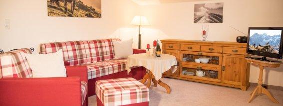 Wohnzimmer Ferienwohnung Anemone