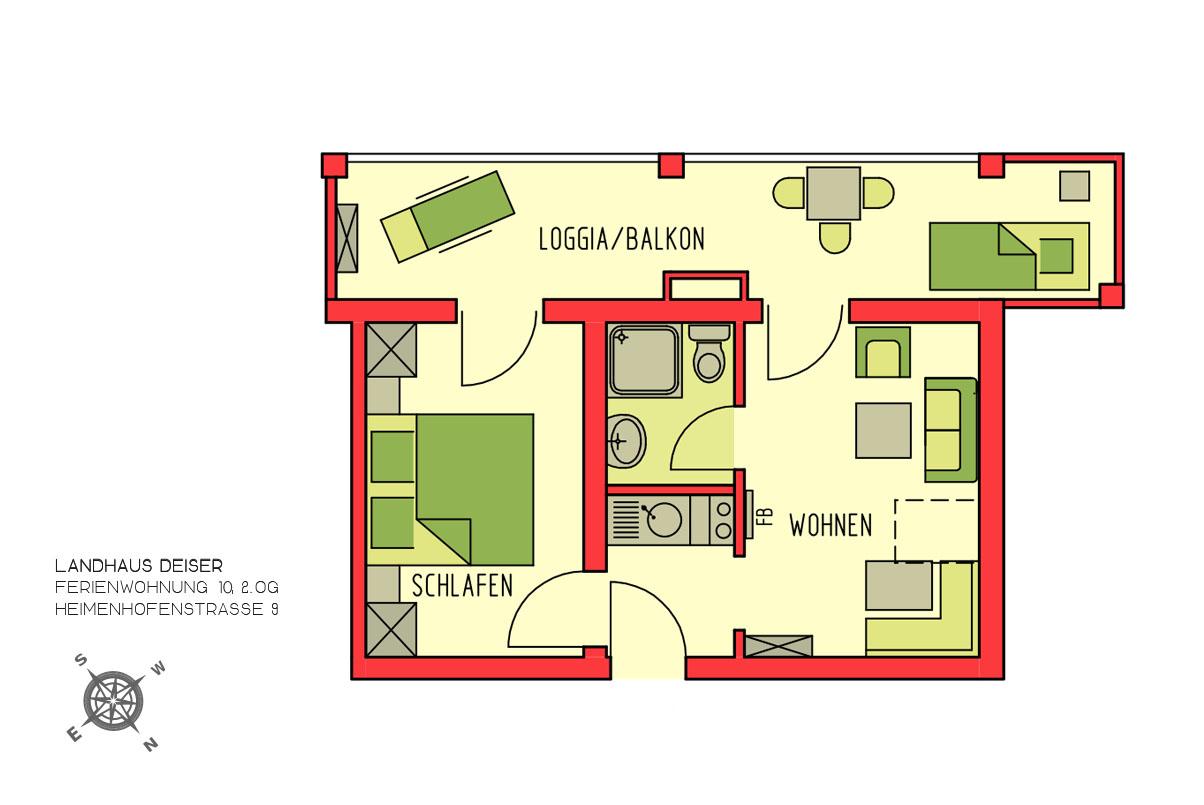 Ferienwohnung Landhaus Deiser Ferienwohnungen / Wohnung 10 (2511966), Oberstdorf, Allgäu (Bayern), Bayern, Deutschland, Bild 3