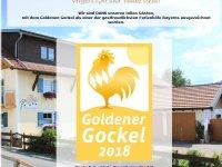Auszeichung Goldener Gockel
