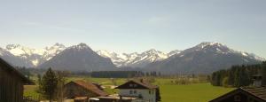 Landhaus Enzian: Panoramasicht auf die Oberstdorfer Berge