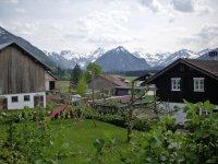 Blick auf die Oberstdorfer Berge
