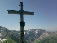 Gipfelkreuz am Daumen