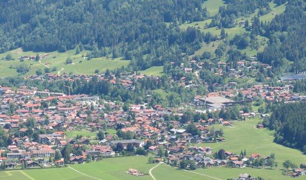 Oberstdorf - südl. Ortsrand (Lage Landhaus Fliegenpilz)
