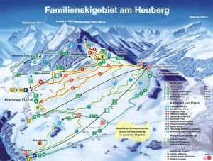 Pistenplan - Familienskigebiet am Heuberg