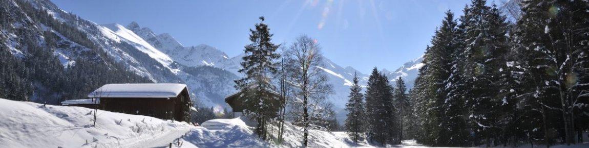 Winterlandschaft in Oberstdorf