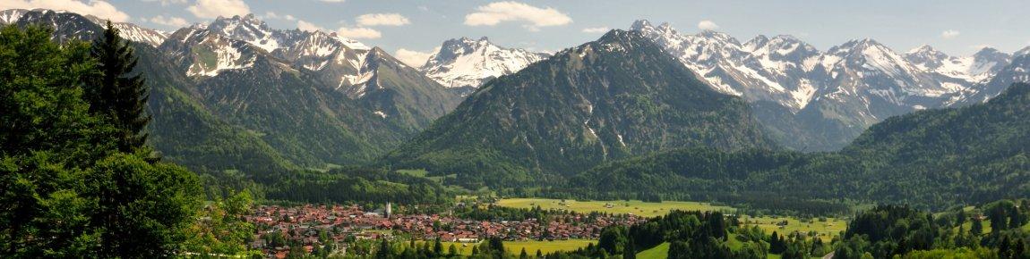 Oberstdorf - Panorama im Frühling