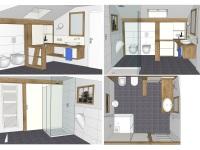Umbauplan NEBELHORN ... Badezimmer - alle Perspektiven ... ab Dez. 2016