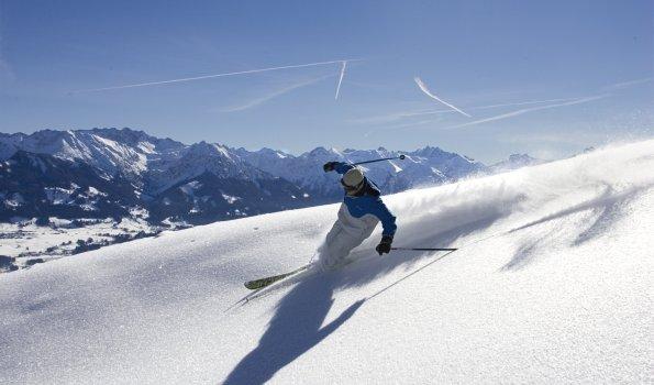 Skifahren Pulverschnee