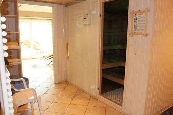 Sauna mit Farblicht
