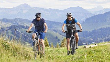 Mountainbiken in den Bergen