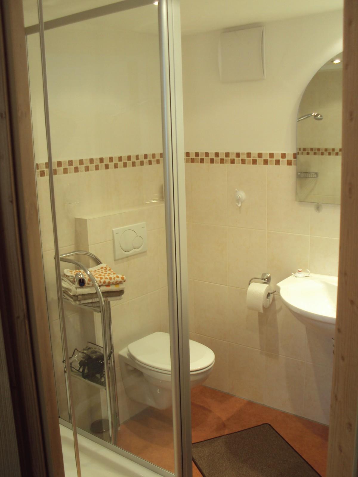Dusche/WC - Gästezimmer Bergblick 7