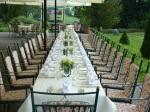 Westterrasse mit Hochzeitstisch