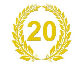 20-jähriges Dienstjubiläum