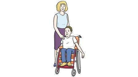 Schul-Begleiterin mit Kind