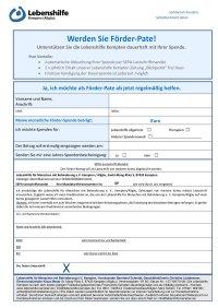 Antrag Dauerspender