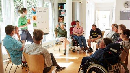Austausch und Treffen der Bewohner