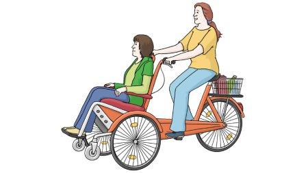 Fahrrad fahren Tandem
