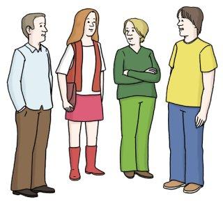 Gespräch in der Gruppe