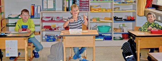 Schulklasse der Tom-Mutters-Schule