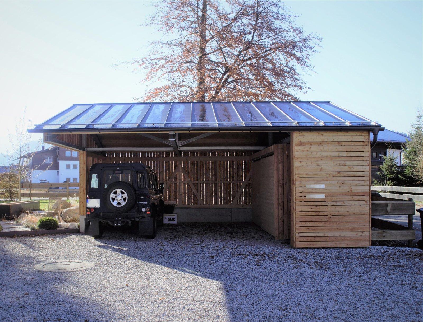 carport und garage. Black Bedroom Furniture Sets. Home Design Ideas