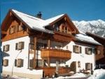 Winterbild vom Haus mit Rubihorn im Hintergrund