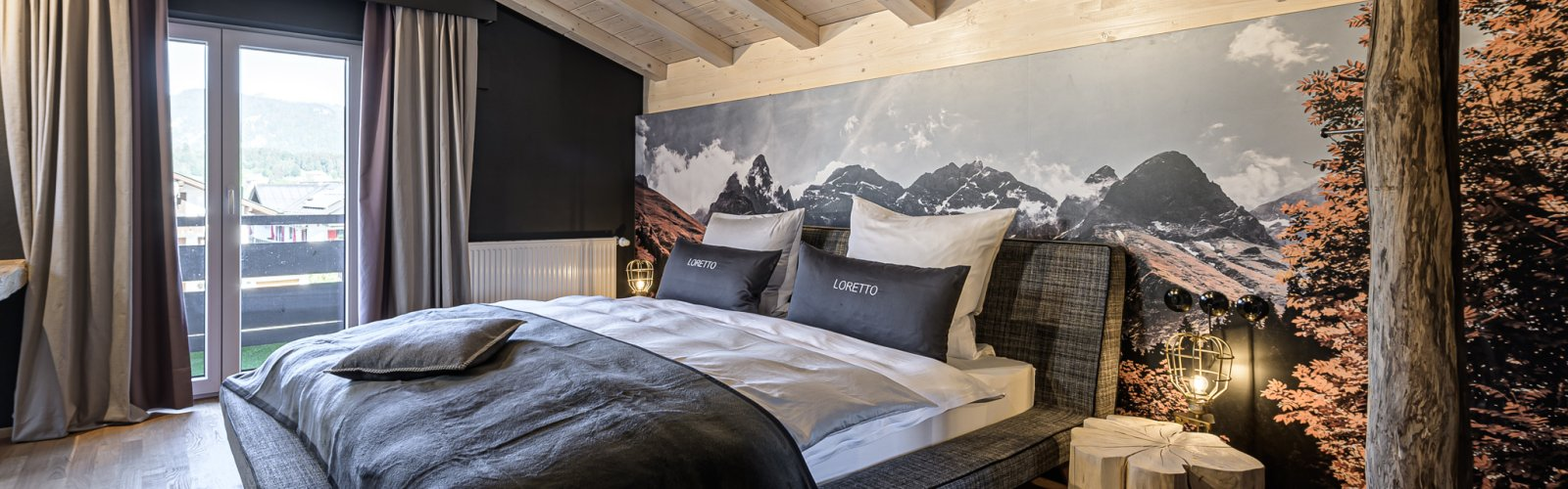 Schlafbereich Apartment Appach