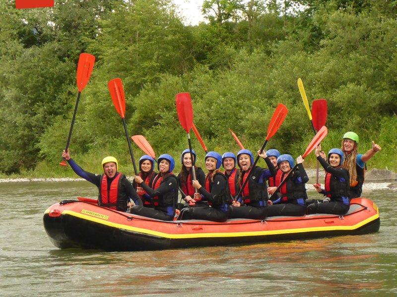 Soft Rafting auf der Iller