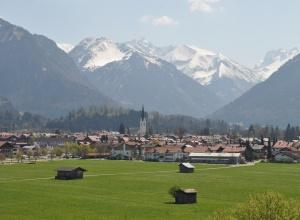 Oberstdorf Ansicht Frühling
