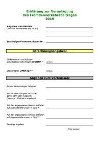 Formblatt FVB 2019