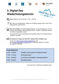 Programm Workshops Digital Day 05.05.2021