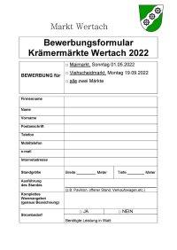 Bewerbungsformular 2022