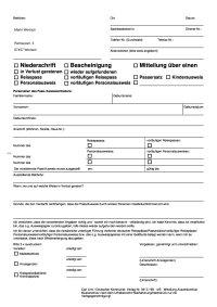 Verlustmeldung (Ausweispapiere)