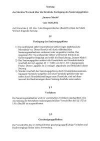 Satzung Innerer Markt v. 14.06.2012