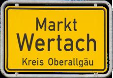 Markt Wertach Ortsschild