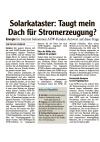 Pressemiteilung zum Solarkataster vom 07.03.2013