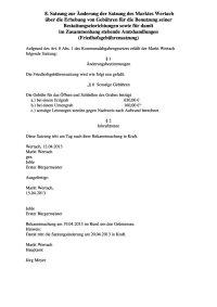 8 Änderung Friedhofsgebührensatzung