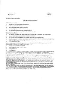§12 Halten und Parken StVO